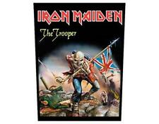 OFFICIAL LICENSED - IRON MAIDEN - TROOPER SEW ON BACK PATCH METAL EDDIE