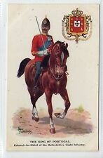 KING OF PORTUGAL, C-in-C OXFORDSHIRE LIGHT INFANTRY: Military postcard (C12588)