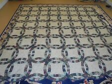 Beautiful Old Double Wedding Ring Quilt