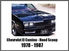 Chevrolet El Camino Hood Scoop 78 79 80 81 82 83 84 85 86 87 Choo Choo Customs
