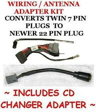 Chrysler Jeep Dodge Radio wiring harness adapter old to new 7-22pin+CD cngr adap