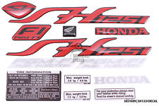 Full set of reflector decal sticker badge logo for Honda SH125 SH125i in Red