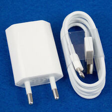 EU Euro European Wall Charger + USB Cable Data Sync for iPhone 5 5S 6S 6 Plus