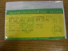 03/08/1998 BIGLIETTO: Norwich City V Leicester City Friendly [] [direttori Box] (com