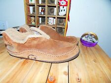 Sorel Manawan Men's Moccasin Brown Suede Slippers Shoes Size 13 Fleece Lined