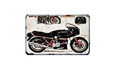 Ducati 1000 S2 Motorbike Sign Metal Retro Aged Aluminium Bike
