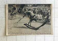 1923 New Game Of Polo On Rocking Horses Opener School Regents Park