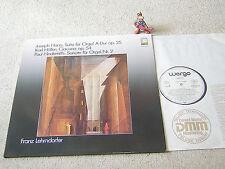 FRANZ LEHRNDORFER spielt HAAS HÖLLER HINDEMITH 1984 GER LP WERGO WER 60107 ORGEL