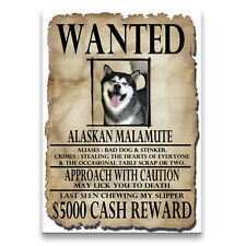 ALASKAN MALAMUTE Wanted Poster FRIDGE MAGNET New DOG