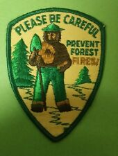 VINTAGE SMOKEY THE BEAR PLEASE BE CAREFUL PREVENT FOREST FIRES! PATCH