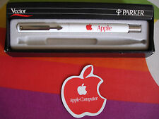 VINTAGE APPLE COMPUTER INC c.1983 SUPE RARE RED LOGO PARKER MACINTOSH ROLLER PEN