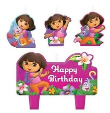 New Dora the Explorer 4pc Birthday Candle Set Kids Birthday Party Supplies~