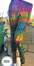 WILD HIPPIE TIE DYE LEGGINGS SIZE 8 10 12 14 FESTIVAL BOHO DREADS SKIRT TOP
