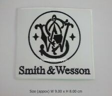 SMITH & WESSON Embroidered Sew Iron On Patch Gun Pistol Firearms Rifle Logo DIY