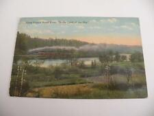 PVINTAGE POSTCARD ALONG FRENCH BROAD RIVER IN THE LAND OF THE SKY ASHEVILLE NC