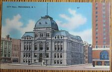 ~1945 CITY HALL, 1ST BAPTIST CHURCH, PROVIDENCE, RHODE ISLAND LOT OF 2 POSTCARDS