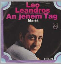 "7"" Leo Leandros An jenem Tag (Coverversion) / Maria 60`s Philips 384 564 PF"