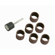 7 Piece 1/2  Inch Drum Sanding Kit -6 Drums, 1 x 3.1mm Mandrel-Clean Metal Wood