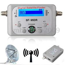 LCD Digital Satellite Signal Finder Satfinder Sat Direc TV FTA Dish w/ Compass