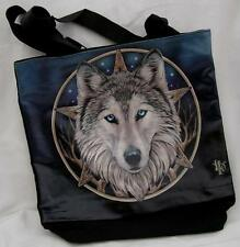 NEMESIS NOW TOTE BAG THE WILD ONE Wolf Animal Gothic Wolves Pentagram MYSTIC