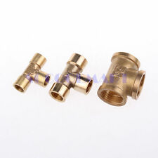 "1pcs 3 ways 3/8"" BSP Tee Female Connection Pipe Brass Coupler Adapter"