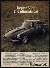 1972 JAGUAR XKE V-12 Black Luxury Car - The Ultimate Cat - VINTAGE AD