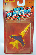 Matchbox Skybusters SB-3 MIRAGE Militrty Aircraft in Yellow Red Blue Livery MOC