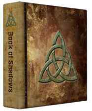 "Triquetra Book of Shadows 3 Ring Binder Grunge Design 10"" x 11.75"" x 2.8""spine"