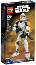 LEGO ~ CLONE COMMANDER CODY BUILDABLE FIGURE SET ~ Star Wars: Clone Wars 75108
