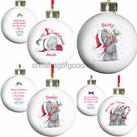 PERSONALISED ME TO YOU TATTY TEDDY BEAR CHRISTMAS TREE BAUBLE Gifts for Xmas