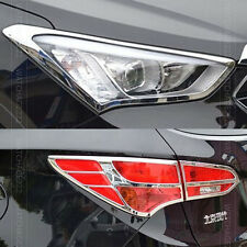 FIT FOR HYUNDAI SANTA FE IX45 CHROME FRONT REAR HEADLIGHT TAIL LIGHT COVER TRIM