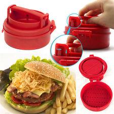 HOT Stuffed Burger Press Hamburger Grill BBQ Patty Maker Juicy As On TV A@