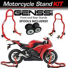 Red Bike Stand Kit Front & Rear Lift Spool Package for Honda CBR1000RR 2004-2016