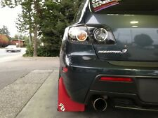 Mazda3 Speed3 Rally Mud Flaps by RokBlokz '04-'09  RED MATERIAL, Mazda 3