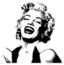 20 water slide nail art transfer decals Marilyn Monroe silhouette 5/8 inch