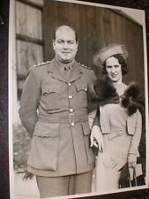 Old photograph soldier wife by Ward at Harrow c1940s -1950s ref 5aBC3