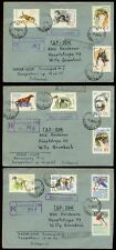 RUSSIA 1965 DOGS SET REGISTERED 3 COVERS LENINGRAD