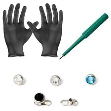 Piercing Kit Dermal Anchors tops Dermal Bases Puncher and  Gloves 8 Pieces