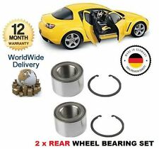 FOR MAZDA RX 8 RX8 1.3 2.6 ROTARY 2003--  2x REAR WHEEL BEARING KIT SET