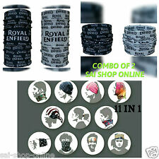 Royal Enfield Printed 11 in1 Multifunctional Headwrap**Bandana bikers** COMBO 2