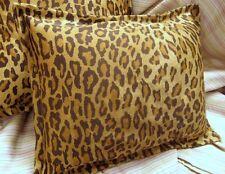 """Leopard  /2 Accent Pillow Shams 12""""x16"""" Ralph Lauren VENETIAN COURT handmade"""