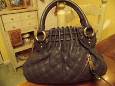 Marc Jacobs Gray Leather Cecilia Bag Quilted Purse Handbag Authentic (New)