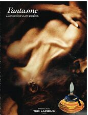 Publicité Advertising 1992 Parfum Fantasme par Ted Lapidus