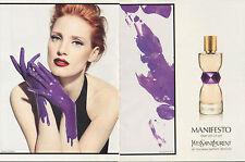 Publicité Advertising 2012 (double page Parfum MANIFESTO YSL