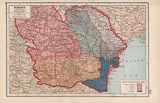 1920 MAP -WORLD WAR 1- WESTERN FRONT- RUMANIA, HISTORICAL