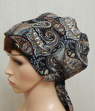 Womens summer head wrap, alopecia head wear, head scarf bonnet, hair scarves cap