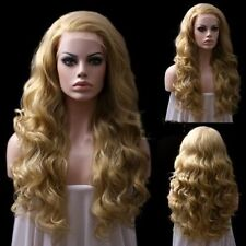 Long Wavy Mixed Blonde Lace Front Hair Wig Synthetic  Wig