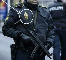 FANCY DRESS COSTUME PROP: Danish Police Politiet Velcro Shoulder Sleeve Insignia