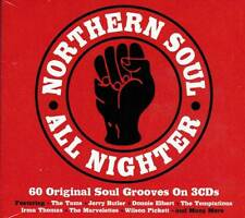 NORTHERN SOUL ALL NIGHTER - 60 ORIGINAL SOUL GROOVES  (NEW SEALED 3CD)