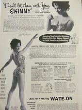 Ziva Rodann, Wate-On, Full Page Vintage Ad, Don't Let them Call You Skinny